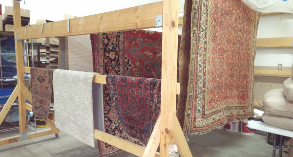 Rugs Drying